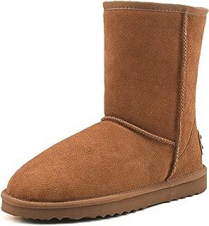 AUSLAND Men's Water Resistant Mid-Calf Snow Boots