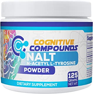 N-Acetyl L-Tyrosine (NALT) Powder - Improved Memory and Focus & Cognitive Function Support - 125 Grams - Cognitive Compounds