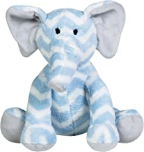 Trend Lab Elephant Plush Toy, Blue/White/Gray