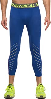 Willarde Men's Compression Capri Leggings Workout Running 3/4 Pants
