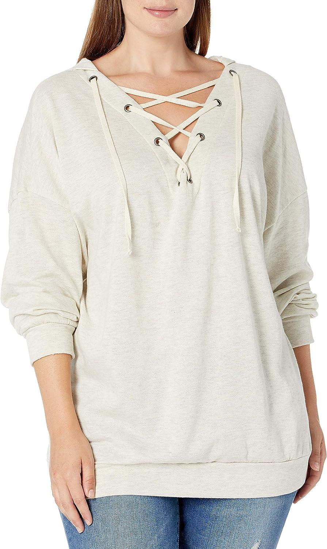 SLINK Jeans Women's Laceup Hoodies Plus Size