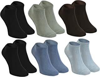 Rainbow Socks, Hombre Mujer Calcetines Cortos Colores de Bambu