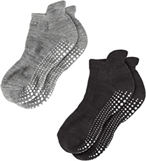 LA Active Grip Socks - Non Slip Casual Socks - Ideal for Home, Indoor Yoga, and Hospital - for Men and Women