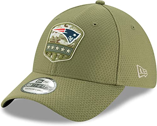 New Era New England Patriots 39thirty Stretch Cap on Field 2019 Salute to Service