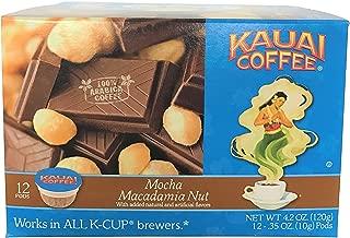 Kauai Coffee Single Serve Pods, Mocha Macadamia Nut - 100% Premium Arabica Coffee from Hawaii's Largest Coffee Grower, Keurig-Compatible Cups (12 Count)
