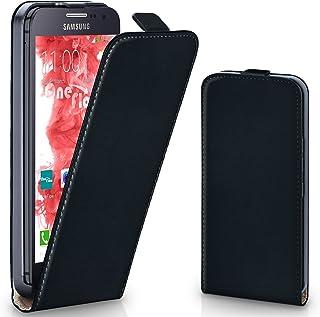 MoEx® Funda abatible + Cierre magnético Compatible con Samsung Galaxy A3 (2015)   Piel sintética, Noir