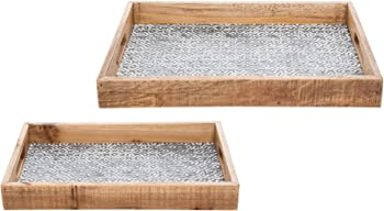 2-Set Foreside Home and Garden Dawson Nesting Trays