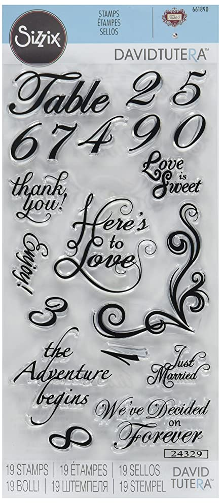 Sizzix Clear Stamps, Sentiments & Table Numbers
