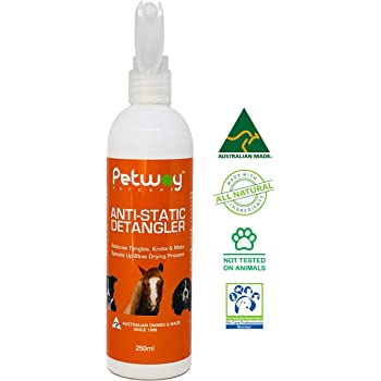 PETWAY Petcare Anti-Static Detangler - Dematting Spray for Dogs, Pet Detangling Spray, Free of Phosphates, Parabens & Enzymes – Tangle Remover, Daily Grooming Aid, Soap & Fragrance Free