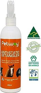 Petway Petcare Anti-Static Detangler - Dematting Spray for Dogs, Pet Detangling Spray, Free of Phosphates, Parabens & Enzy...