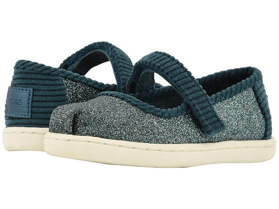 TOMS Kids Mary Jane (Infant/Toddler/Little Kid) (Atlantic Iridescent Glimmer/Corduroy) Girls Shoes