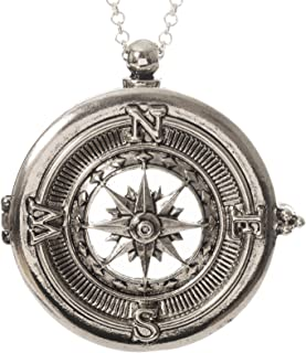 Compass 4x Magnifier Magnifying Glass Sliding Top Magnet Pendant Necklace, 30