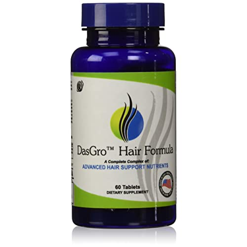DasGro Hair Growth Vitamins with Biotin and DHT Blocking Ingredients for All Hair Types, (30 Day Supply)