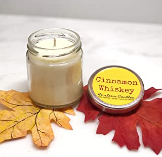 Cinnamon Whiskey Scented Soy Candle, 4.5oz