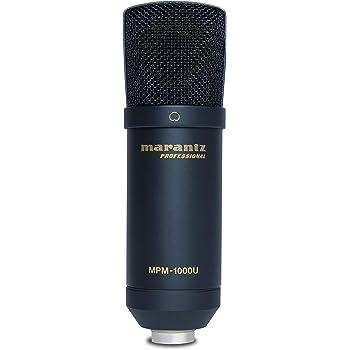 Marantz Professional MPM-1000U | Large Diaphragm USB Condenser Microphone For Podcasting & Recording, Including USB Cable & Mic Clip