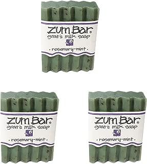 Indigo Wild: Zum Bar Goat's Milk Soap Bar, Rosemary Mint 3 oz (3 pack)