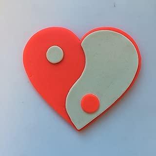 Yin Yang Heart Cookie Cutter Set (5.5 inches)