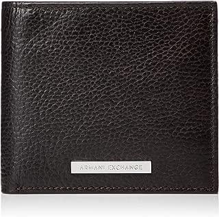 A|X Armani Exchange Men's Bifold Coin Case Wallet