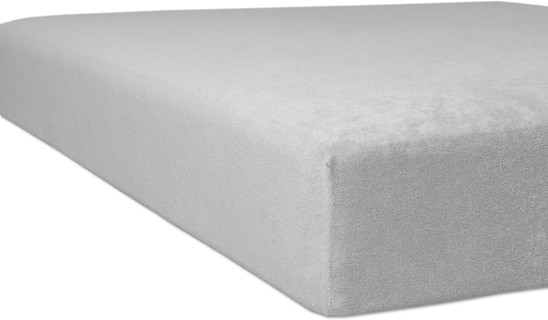 Kneer 1001209 Flausch-Frottee Spannbetttuch Qualität Qualität Qualität 10, Größe 120 200-130 200 cm, platin B007H8PEUO 70c82e
