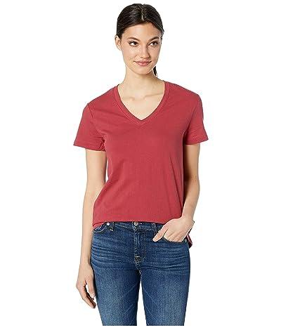 Hurley Solid Perfect V-Neck Tee Shirt (Team Crimson) Women