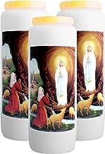 20 pi/èces Bougies de neuvaine Christ Misericordieux combustion 9 jours