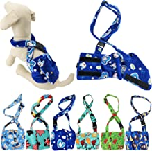 FunnyDogClothes Dog Diaper for Male Boy Belly Band Reusable Washable with Suspenders Soft Fleece