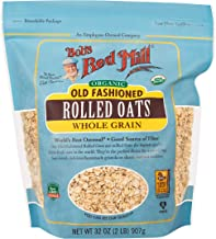 Bob's Red Mill Organic Rolled Oats, 32 Ounces (Pack of 4)