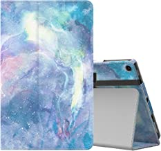 MoKo Case for All-New Amazon Fire HD 10 Tablet (7th Generation and 9th Generation, 2017 and 2019 Release) - Slim Folding Stand Cover with Auto Wake/Sleep for 10.1 Inch Tablet, Dreamy Nebula