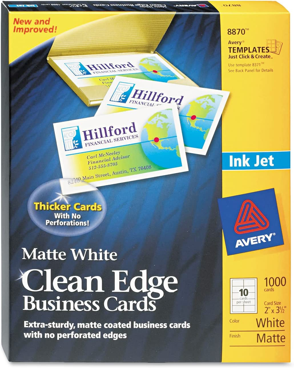 AVE8870 - Avery Two-Side Max 42% OFF Printable Clean Edge Store Business Cards