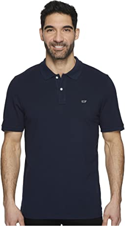 Vineyard Vines - Stretch Pique Solid Polo & Contrast Whale