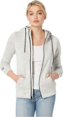 Boundary Zip-Up Fleece Top