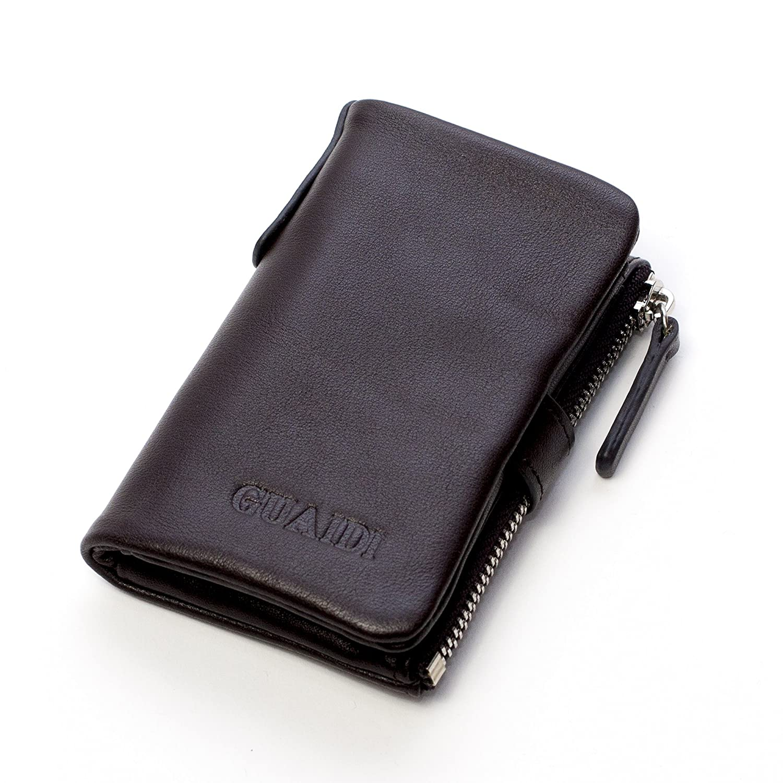 V&W キーケース 本革 小銭入れ カード スマートキー 収納可能 6連 キーリング