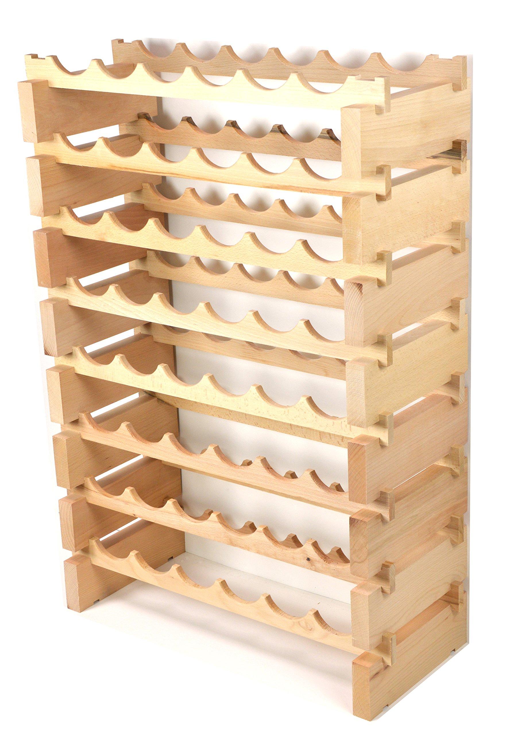 Modular botellero madera de pino 24 – 72 botella capacidad de almacenamiento 6 botellas en hasta 12 filas, apilable, nuevo modelo mejorado: Amazon.es: Hogar