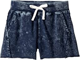 Baby French Terry Mineral Wash Shorts (Big Kids)