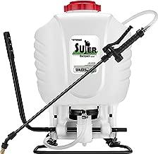 VIVOSUN 4 Gallon Backpack Sprayer Manual Pump Sprayer with Four Nozzles and Adjustable Shoulder Strap for Garden Lawn