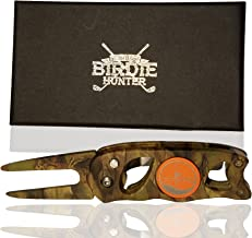 """The Birdie Hunter"""" Camouflage Golf Divot Repair Tool and Ball Marker"""