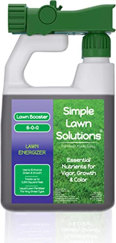 Commercial Grade Lawn Energizer- Grass Micronutrient Booster with Iron & Nitrogen- Liquid Turf Spray Concentrated Fer...
