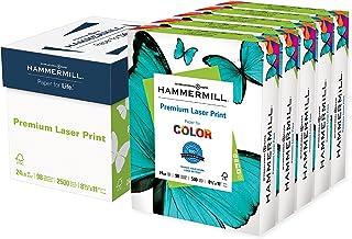 Hammermill Printer Paper, Premium Laser Print 24 lb, 8.5 x 11-5 Ream (2,500 Sheets) - 98 Bright, Made in the USA, 104640C