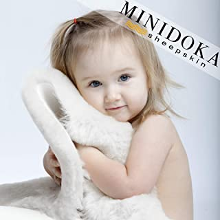 XL Australian Lambskin Baby Rug, Ivory Color, 100% Natural, 37+ inches Long, Premium Quality, Plush Silky Soft Wool, by Minidoka Sheepskin
