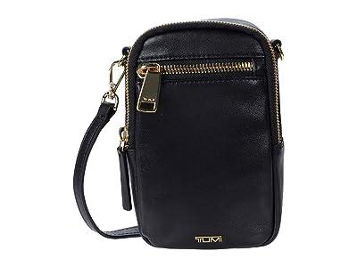Tumi Voyageur Katy Leather Crossbody (Black) Handbags