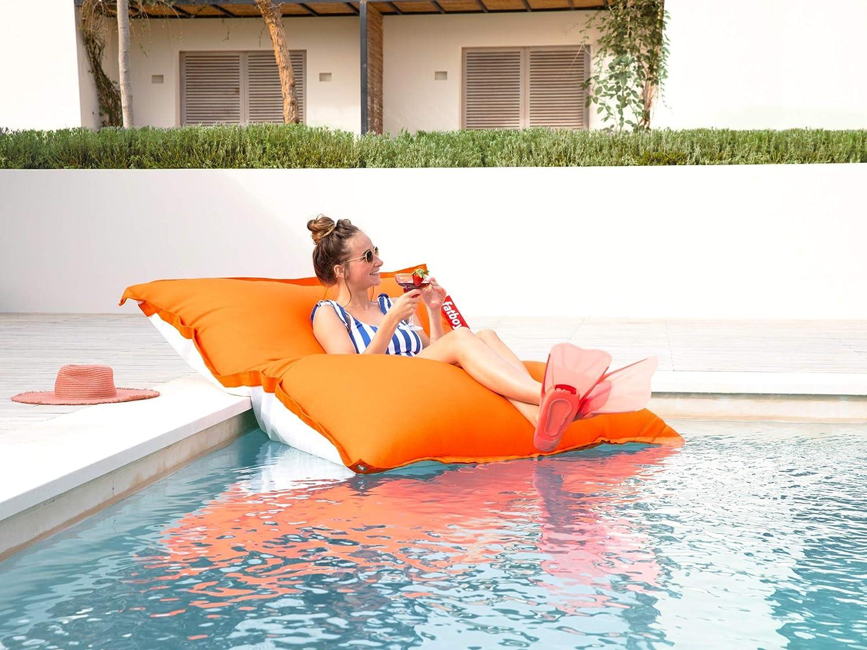 180 x 134 cm Schnelltrocknender /& schwimmender Wasser-Sitzsack Fatboy/® Original Floatzac Stripe red Sitzsack an Land /& im Wasser