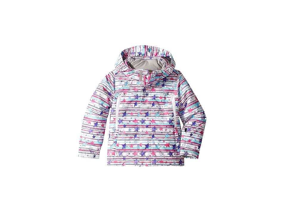 Spyder Kids Glam Jacket (Toddler/Little Kids/Big Kids) (Star Stripe Multi/White) Girl's Coat