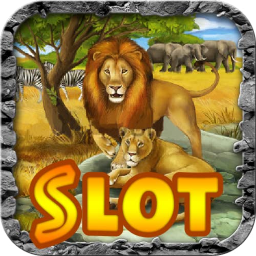 Lion King of Animal Kingdom Cheetah Africa Treasure Lucky Jackpot Casino Slot Machine Poker Slots - Free Slots Game