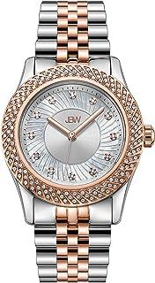 JBW Luxury Women's Carina 12 Diamonds Interchangable Bezel Metal Watch