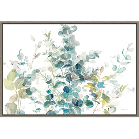 Eucalyptus Iii White By Danhui Nai 18x24 Inch Canvas Wall Art Home Kitchen