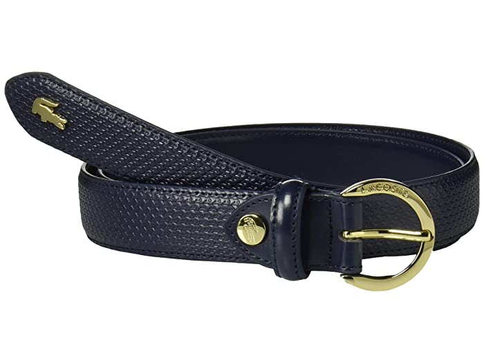 Lacoste Chantaco Leather Belt (Peacoat) Women