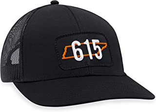 Tennessee Hat – 615 Trucker Hat Baseball Cap Snapback Golf Hat (Black)