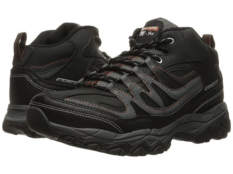 SKECHERS Afterburn M. Fit Mid (Black/Charcoal) Men