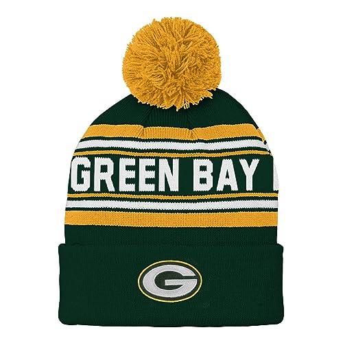 NFL Boys Kids   Youth Boys Jacquard Cuffed Knit Hat with Pom 1ceb05fcb