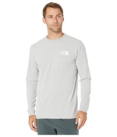 The North Face Long Sleeve Red Box T-Shirt (TNF Light Grey Heather) Men